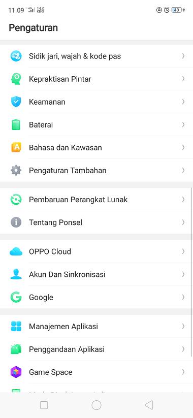 Cara Ganti Bahasa HP Android OPPO Terbaru