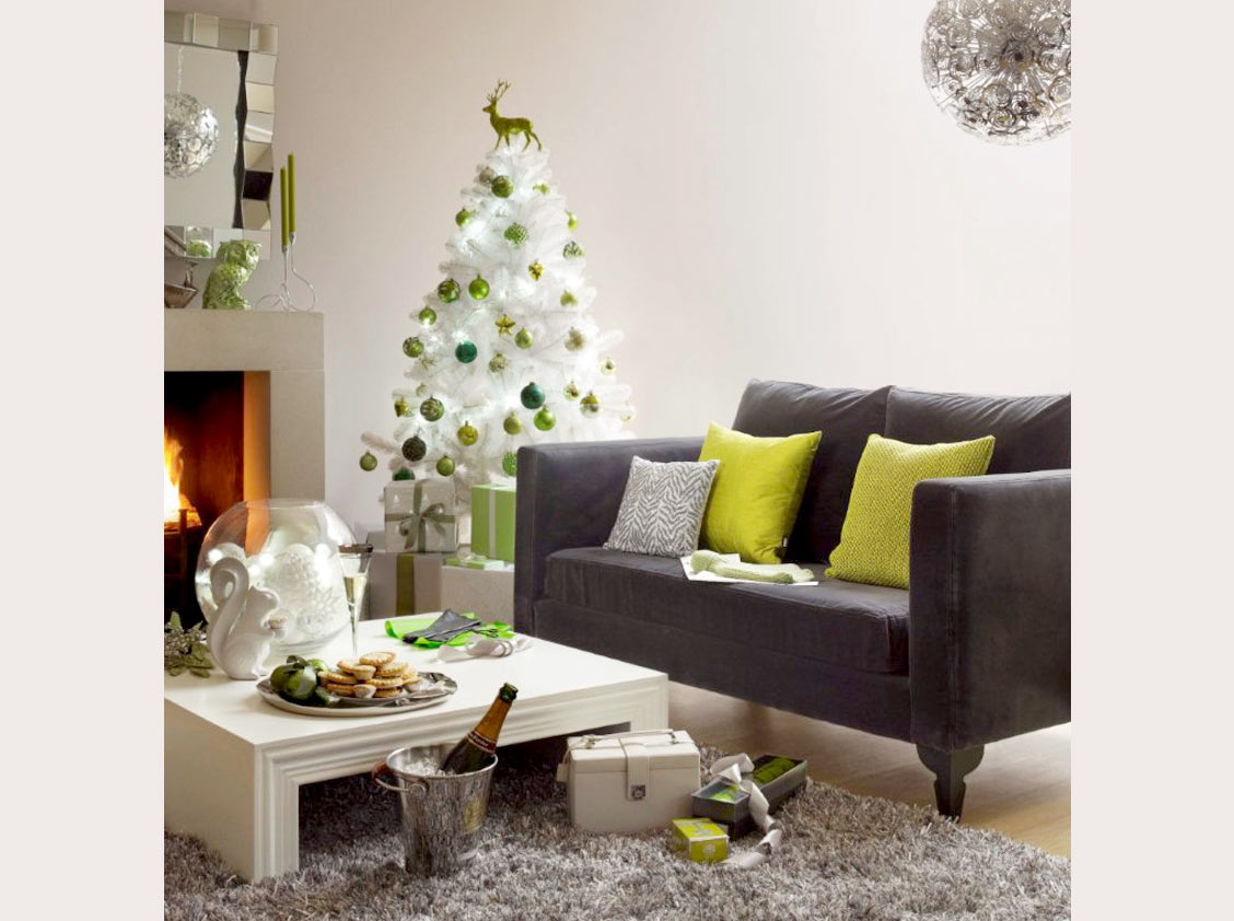 Chic beautiful life merry christmas - Christmas tree in living room ...