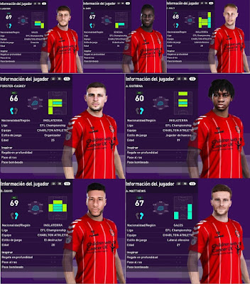 PES 2020 Charlton Athletic Facepack by Emaelmate