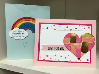 Stampin' Up! Sunshine & Rainbow Sure Do Love You Rainbow Builder Framelits