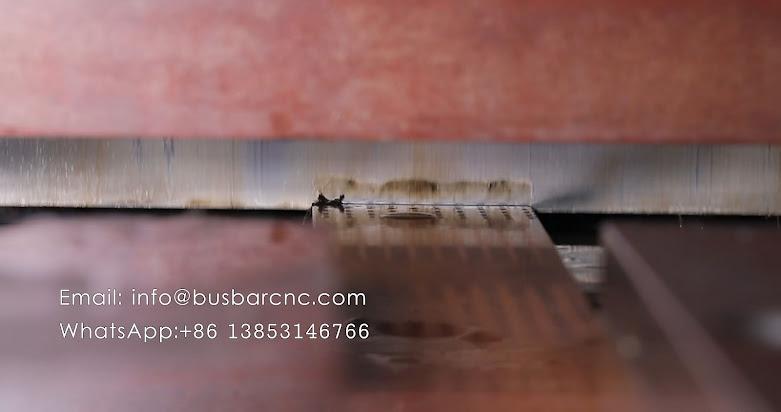 copper busbar cutting punching bending machine