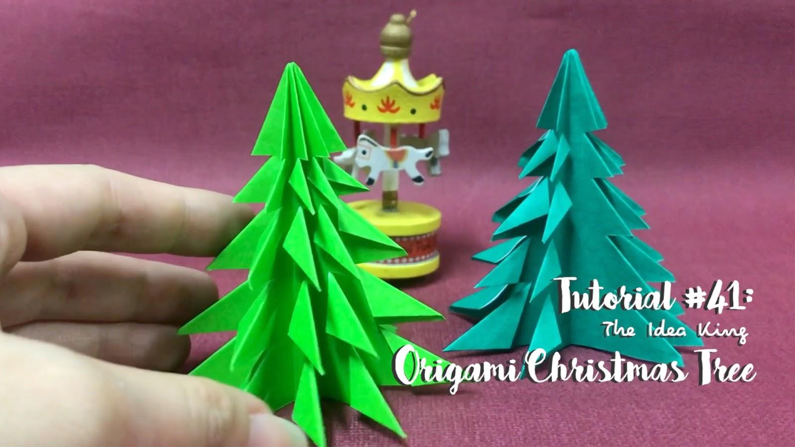 Tutorial 41 Origami Christmas Tree