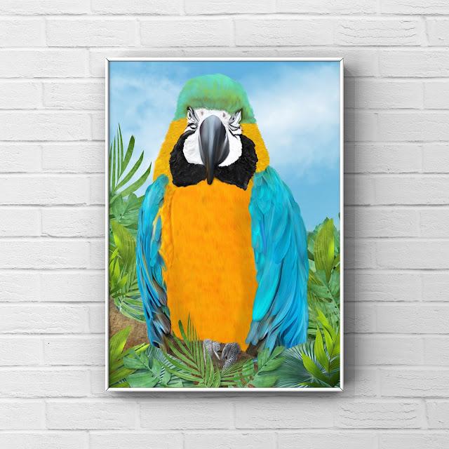 Tropical parrot, art, wildlife art, art tips, Mark Taylor,