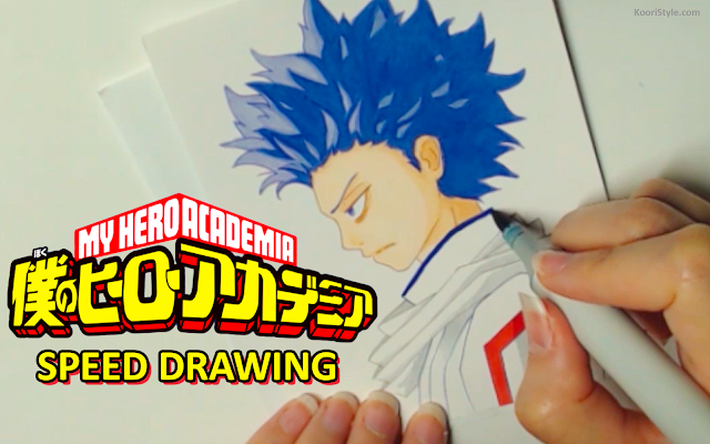 Koori Style, KooriStyle, My hero academia, boku no hero academia, anime, fanart, Cute, Kawaii, Drawing, Dibujo, Speed, Painting, Paint, Copic, Markers, Sketch, shinsou, hitoshi