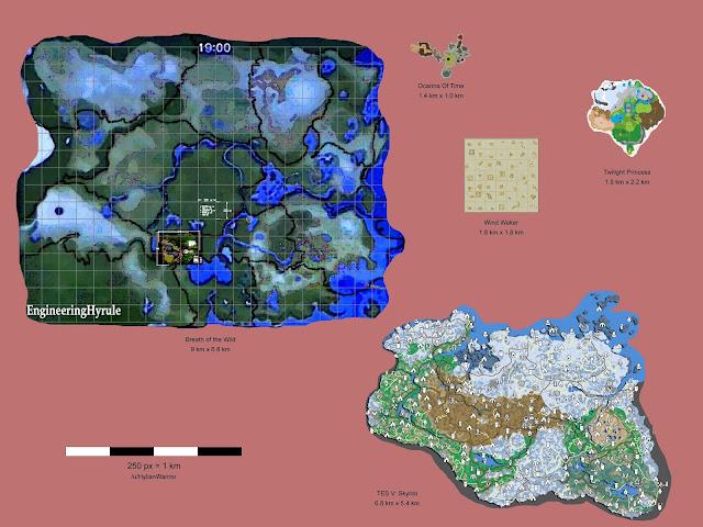 Comparan el tamaño del mapa de Zelda con Skyrim, ¡descubre cuál es más grande!