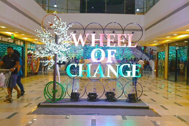 "Massive art installation depicting ""Wheels of Change"" draws large crowds at Inorbit Mall, Vashi"