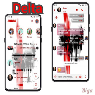 Red Skull Theme For YOWhatsApp & Delta WhatsApp By Marcos