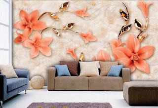 حين يحلُّ ورق جدران ثلاثي الابعاد في الغرفة، هو يجعل الجالس فيها يعيش جوًّا قريبًا من الواقع.فهي كما قلنا ثلاثي الابعاد الاقرب للواقع بااشكال جميلة من الزهور التي تعبر عن الارتياح