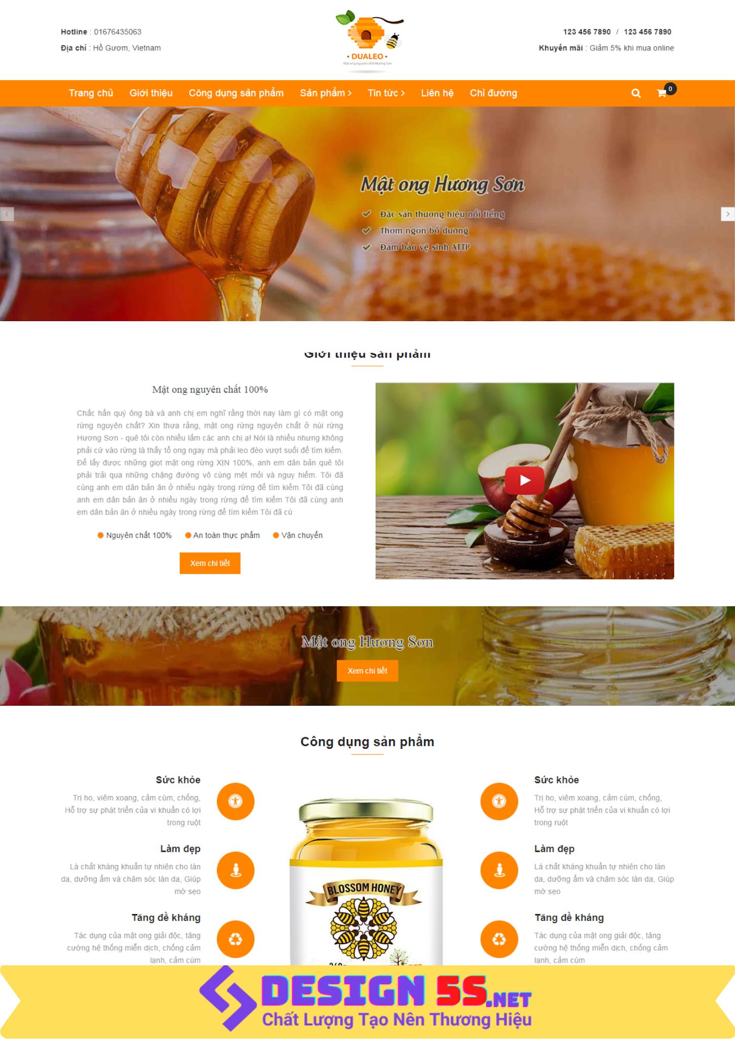 Template blogspot giới thiệu bán hàng sản phẩm Mật Ong VSM11