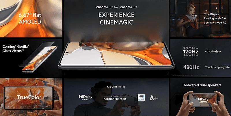 Xiaomi 11T series has a Flat AMOLED screen