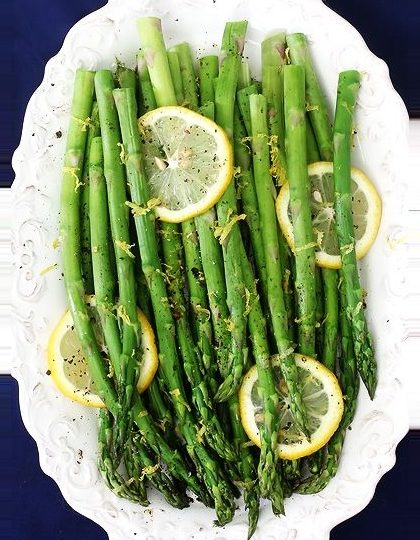 lemon pepper asparagus recipe | roasted lemon pepper asparagus