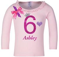 6th Birthday Shirt  Girls Long Sleeve Pink