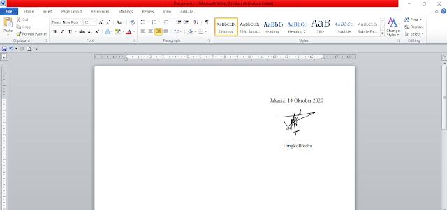 Cara Buat Tanda Tangan di File Microsoft Word