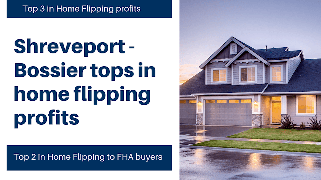 Top property database names Shreveport and Bossier City as Top 3 US metro area for profitable home flipping