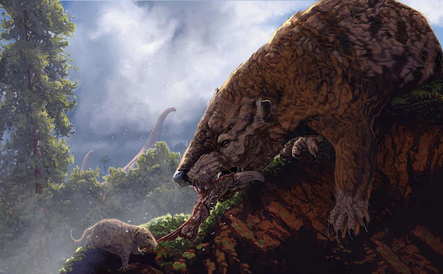 Mammals in the time of dinosaurs held each other back