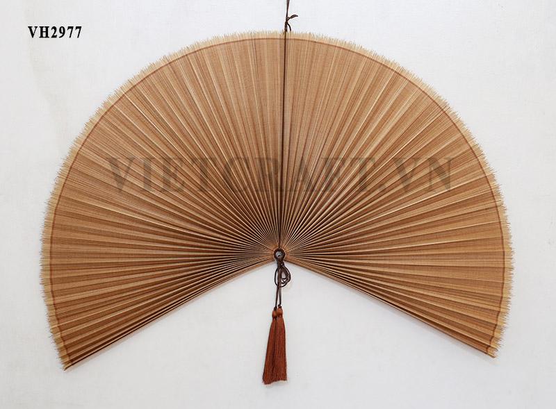 Decorative Wall Fans : Bamboo fan vietnamese decorative large