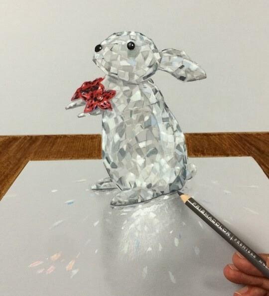 02-Bunny-Presenting-a-Flower-Leonardo-Pereznieto-Swarovski-Crystal-Drawings-www-designstack-co