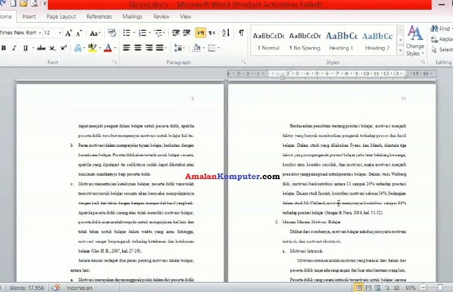 Cara Membuat Skripsi Di Laptop Menggunakan Ms Word Trik Tips Komputer Laptop 2021