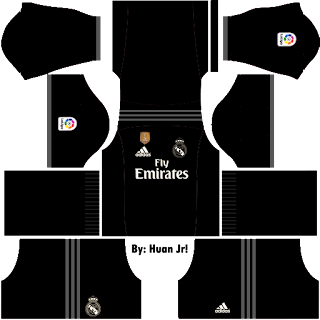 Baju Dream League Soccer Real Madrid Away