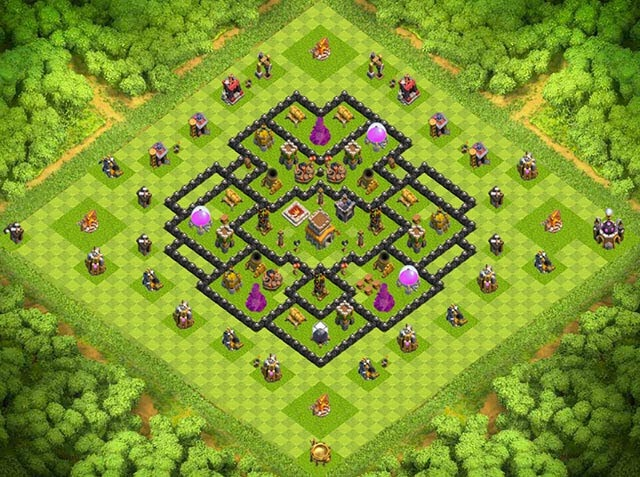 Base Town Hall 8 Clash of Clans Clan War