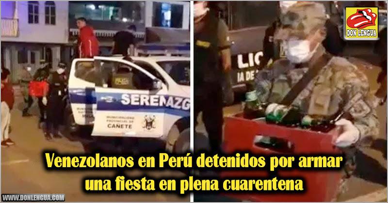 Venezolanos en Perú detenidos por armar una fiesta en plena cuarentena