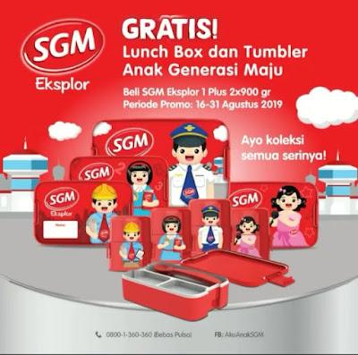 Promo Menarik Dari SGM Eksplor Lunch Box Dan Buku Aktivitas Anak Generasi Maju Periode 16 - 31 Agustus 2019