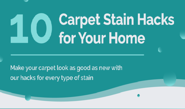 10 Carpet Stain Hacks For Your Home #infographic