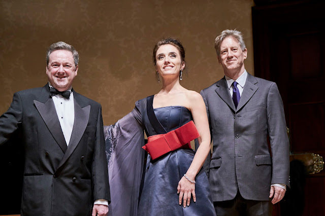 Steven Maughan, Ermonela Jaho, Henry Little (chief executive of Opera Rara) at Wigmore Hall (Photo Russell Duncan)