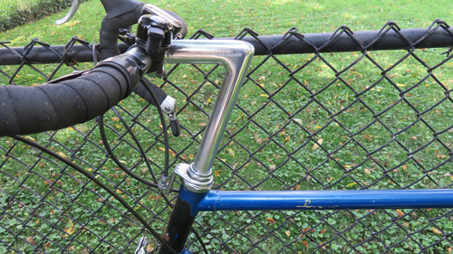 "Old Raleigh bicycle handlebars and 8"" stem"