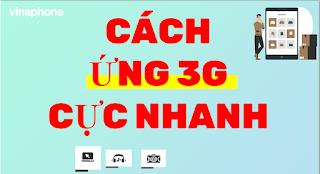 Cách Ứng dung lượng 3G