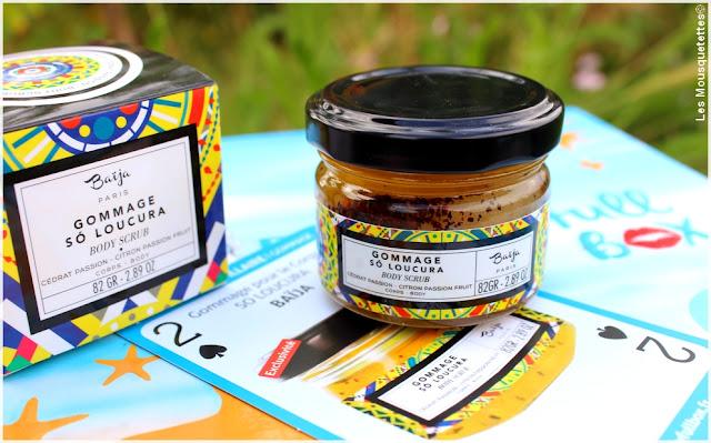 Biotyfull Box juillet 2016 - Gommage So Loucura Baïja - Blog beauté Les Mousquetettes©
