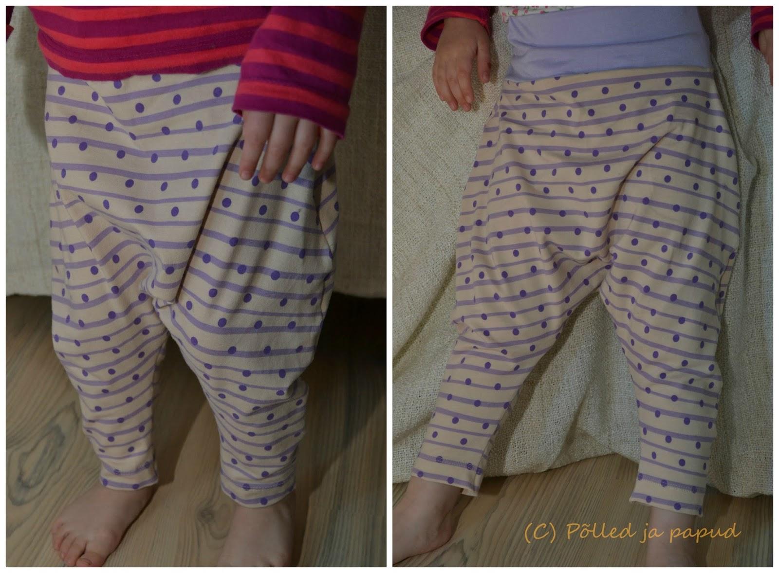 8bc6ce927bf Sättisin neid täpilisi siiski Lene jalas nii, et teil oleks võimalik aimu  saada, millised need soonikuteta haaremipüksid jalas välja võiksid näha.