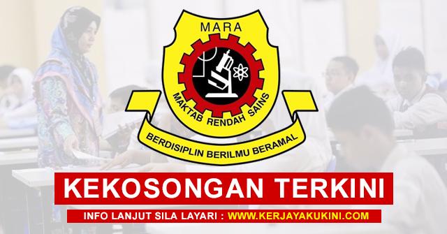 Maktab Rendah Sains Mara (MRSM) Buka Pengambilan ...