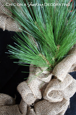 burlap wreath tutorial