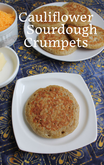 Food Lust People Love: These cauliflower sourdough crumpets are cooked in butter, which gives them wonderful golden outsides, perfectly complementing the tender insides made of sourdough starter and tiny cauliflower bits.
