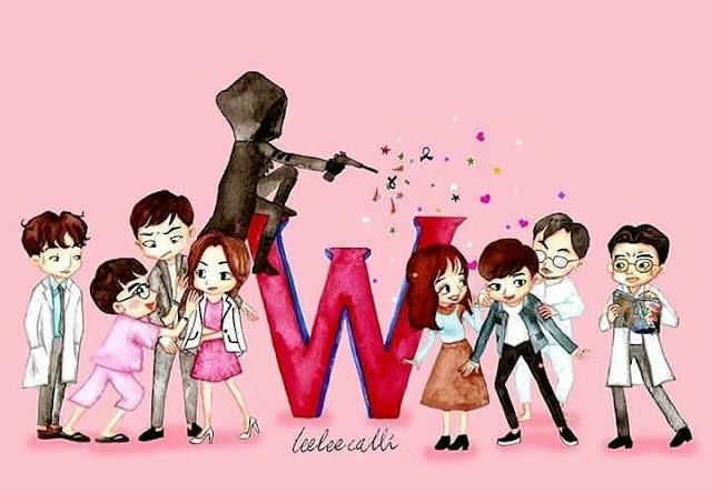 Review, Sinopsis, W - Two Worlds: Dunia Fantasi Kang Chul Daepyonim, Drama Korea, Rekomendasi, 2016, Lee Jongsuk, Han Hyo Joo,