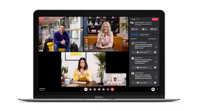يريد Facebook  فيسبوك العملي جعل التعاون أكثر إمتاعًا مع قواعد العمل العالمية جوجل وياهو workplace