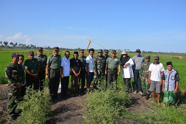 Tim Pengawas Cetak Sawah Mabesad Kunker di Lokasi Cetak Sawah Bone