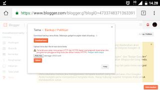 Cara menggnti template blogspot pakai hp andorid
