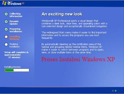 memulai instal ulang windows xp di komputer
