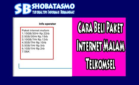2 Cara Beli Paket Internet Malam Telkomsel