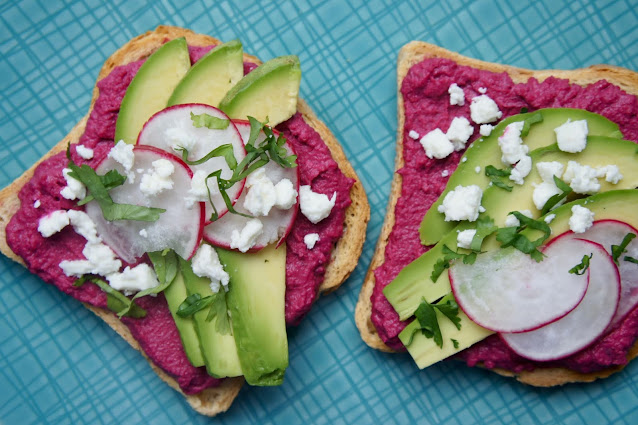 REZEPT: glutenfreies Rote Beete Avocado Sandwich mit Fria Brot