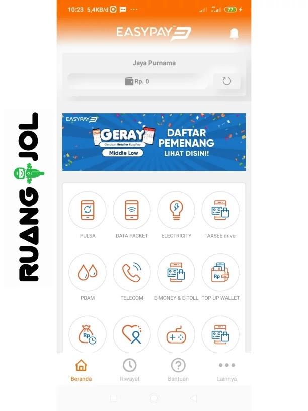 Cara Isi Saldo Maxim Driver Via Aplikasi EasyPay Mobile