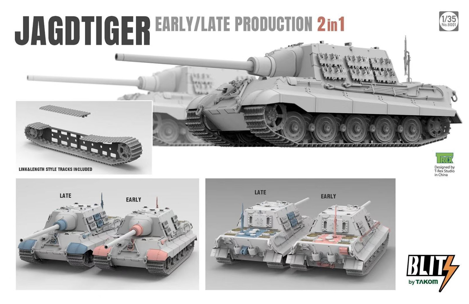 Kuvahaun tulos haulle takom Sd.Kfz.186 Jagdtiger early/late production 2 in 1