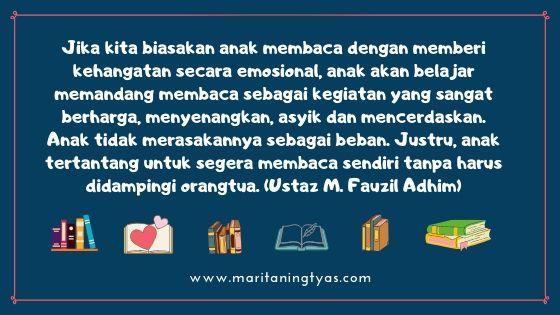 quotes tentang membaca dari ustaz m. fauzil adhim