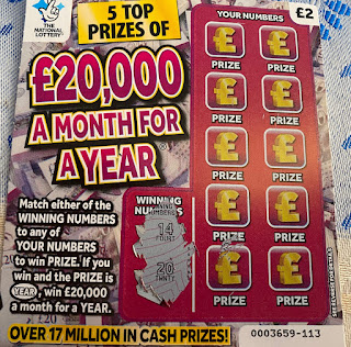 £2 £20000 A Month For A Year Scratchcard