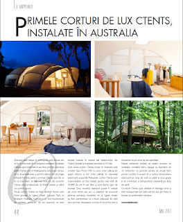 Ctents, luxury glamping tents in Luxury rich and famous magazine. Romania