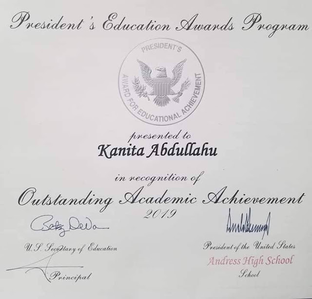 Albanian student Kanita Abdullahu among the best in America, awarded by Trump
