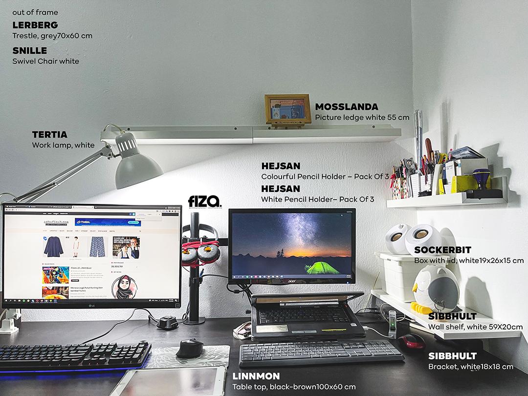 Minimalist Dekorasi perabot IKEA Workspace