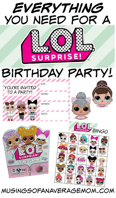 free lol party supplies